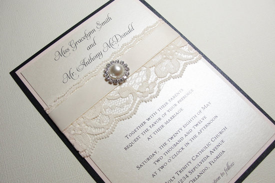 pearl wedding accessories handmade Etsy wedding finds elegant invitations 2