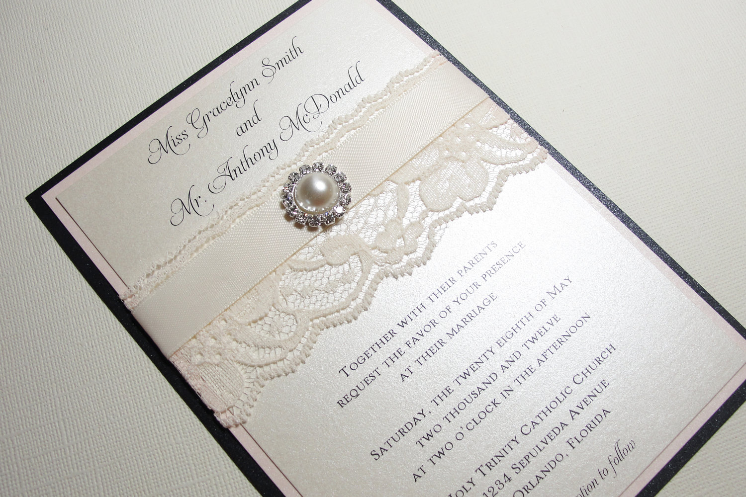 Image From Http Wedding Pictures Onewed Match Images 90369 Pearl Accessories Handmade Etsy Finds Elegant Invitations 2 Origin