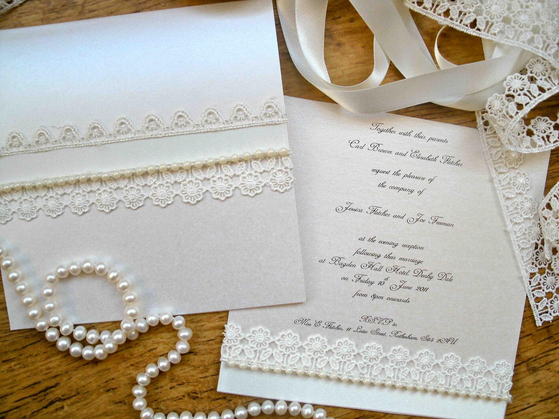 Pearl Wedding Accessories Handmade Etsy Wedding Finds Elegant Invitations 1