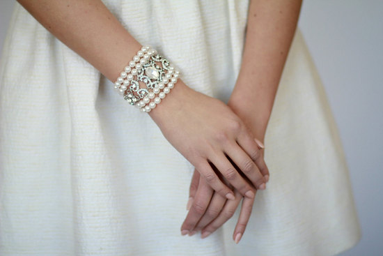 pearl wedding accessories handmade Etsy wedding finds vintage inspired bracelet
