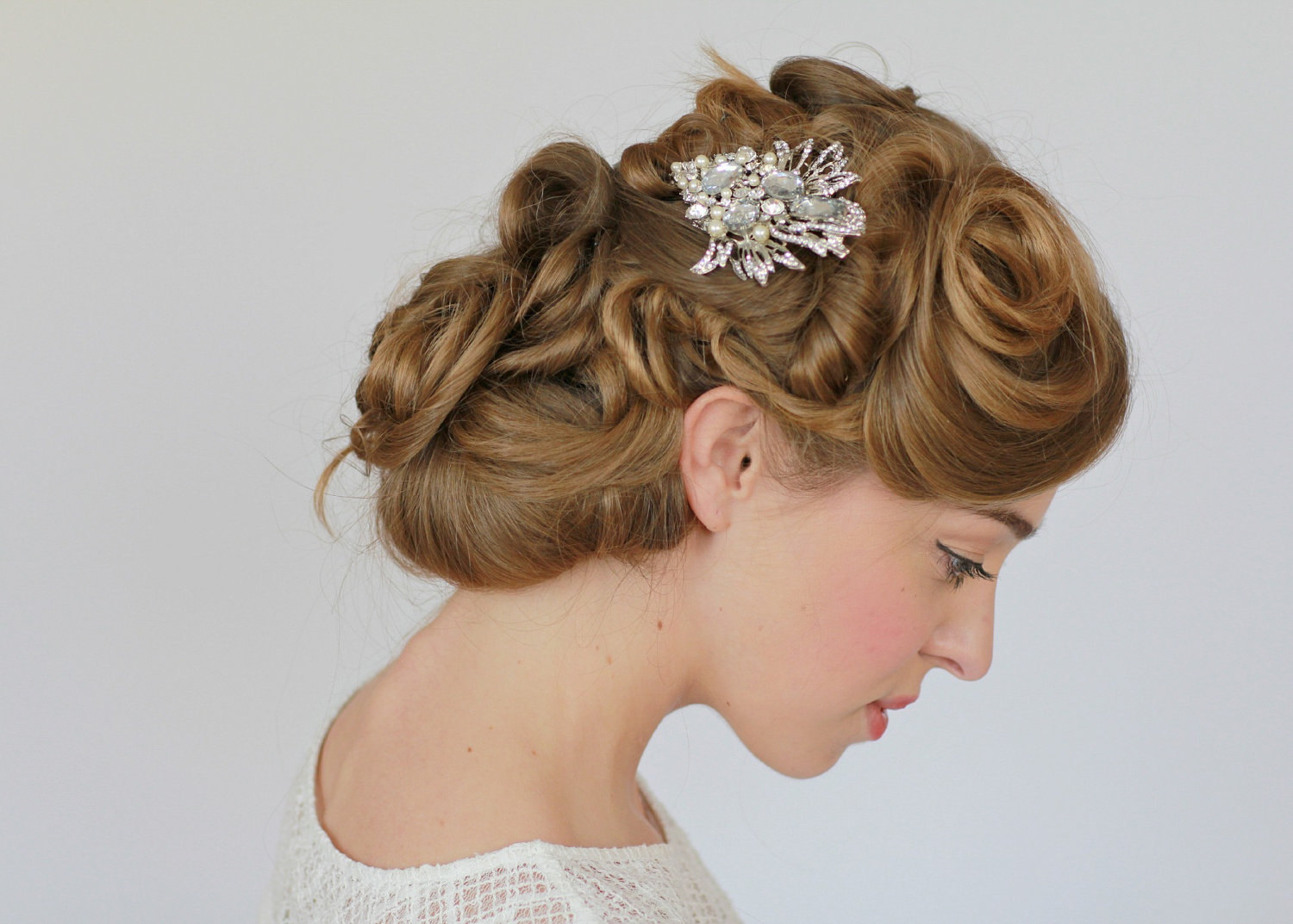 wedding hair jewelry vintage | hairstyles