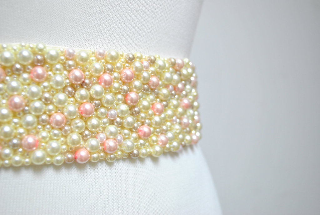 pearl wedding accessories handmade Etsy wedding finds sash