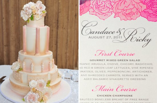elegant weddings styled by Jerri Woolworth wedding cake invitations