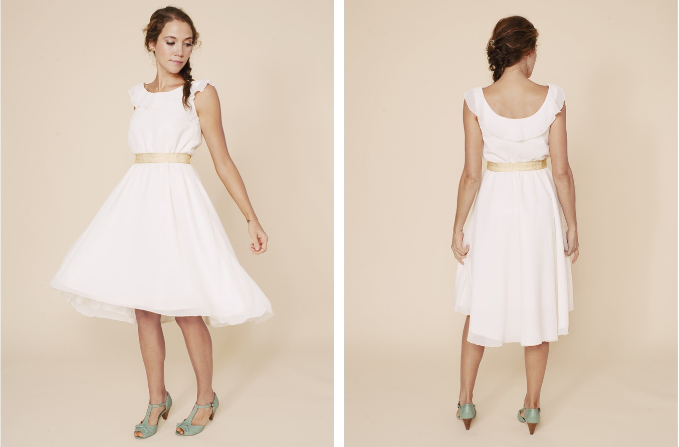 Simple Wedding Dresses Understated Bridal Gown LWD With