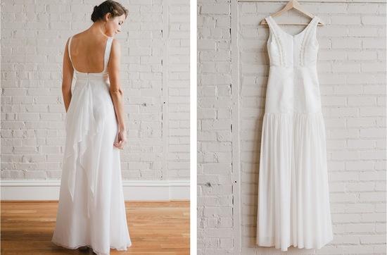 photo of Simple, Sweet Wedding & Bridesmaid Dresses
