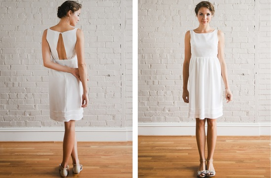 photo of Simple, Sweet Wedding & Bridesmaid Dresses