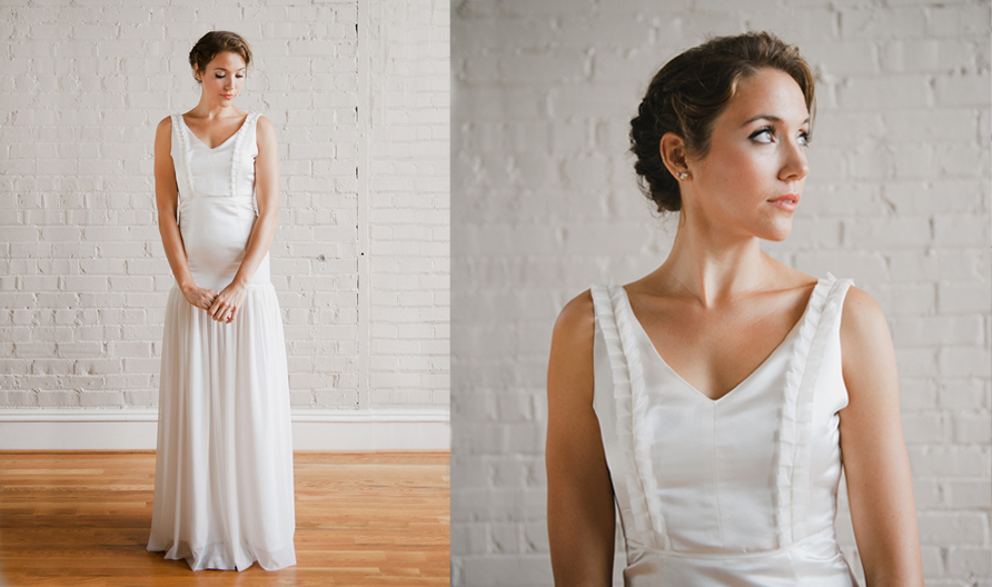 simple wedding dresses Whitney Deal bridal gown 2