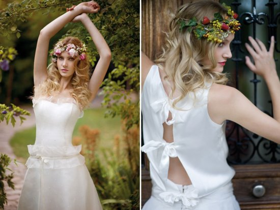 Bohemian bridal style wedding dresses and accessories.