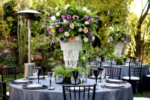photo of wedding details reception decor inspiration by Jerri Woolworth spring tablescape