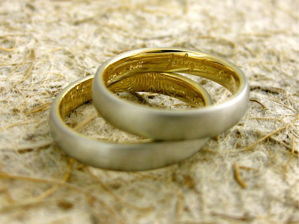 wedding bands your groom will love unique wedding rings from Etsy 10