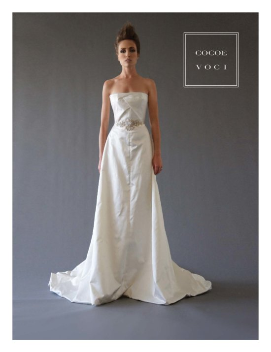 fall 2012 wedding dress Cocoe Voci bridal gowns 4