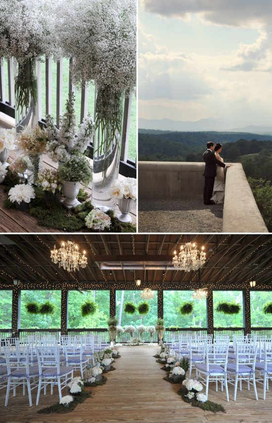 elegant wedding in North Carolina classic wedding party romantic setting 3