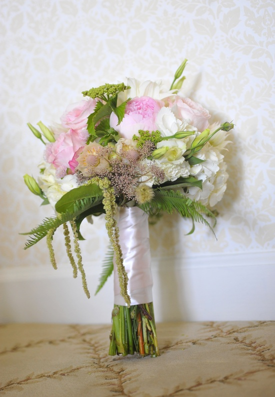 elegant real wedding North Carolina estate venue romantic bridal bouquet