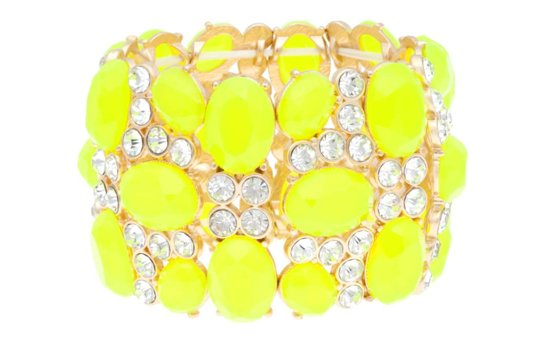 bright yellow cuff bracelet for brides