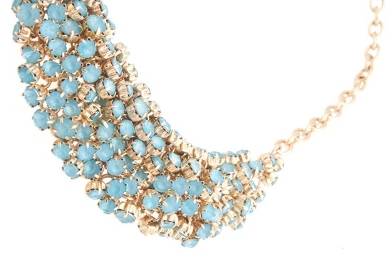 something blue bridal necklace statement wedding jewelry 1