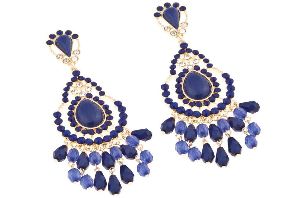 Something Blue Bridal Earrings Deep Navy