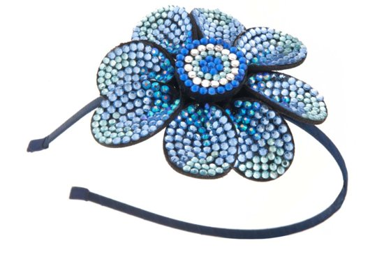 blue bridal headband statement wedding jewelry