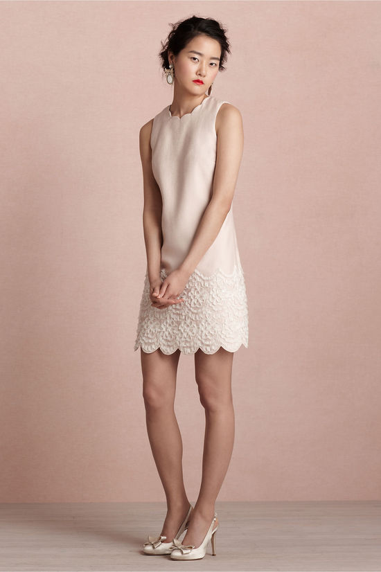 covetable bridesmaid dresses from BHLDN 2013 bridal party style pastel pink shift