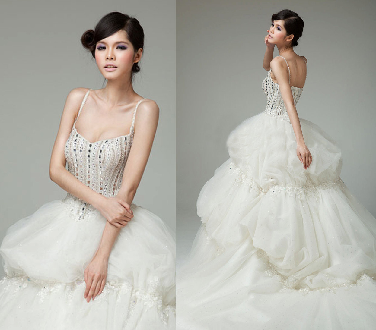 Non Traditional Wedding Dress Shopping Tips From Loho: Unique Wedding Dresses Non White Bridal Gown Beige