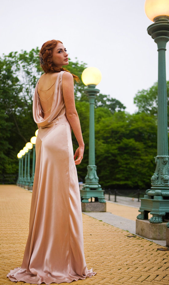 unique wedding dresses non white bridal gown blush pink open back