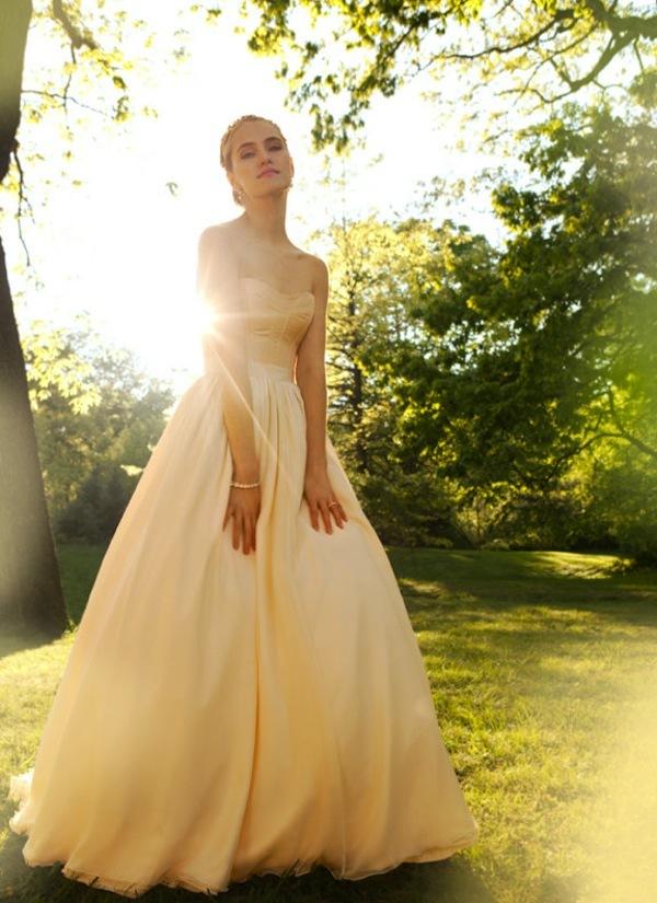 Unique wedding dresses non white bridal gown blush pink for Non wedding dresses for brides