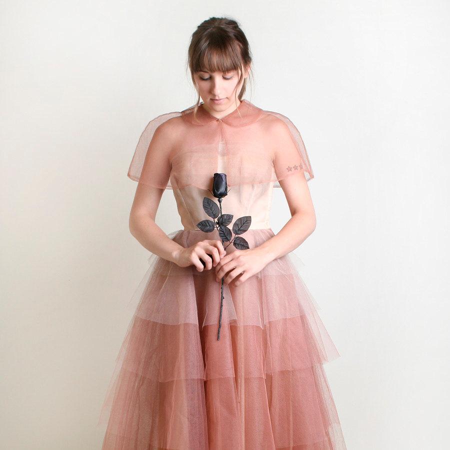 Unique-wedding-dresses-non-white-bridal-gown-vintage-tulle-ombre-1.full