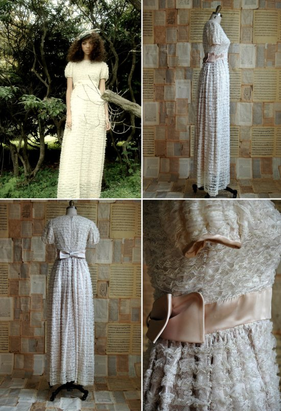 non white wedding dresses from Etsy 9