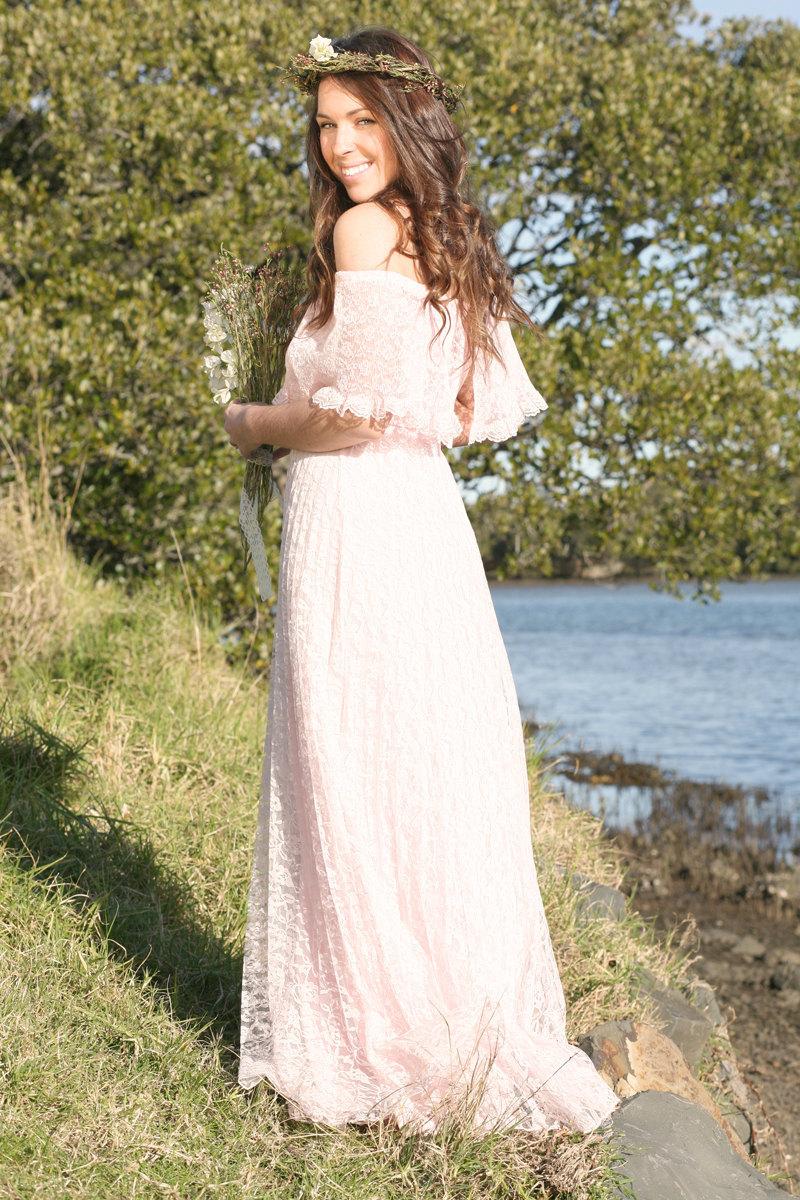 Unique Wedding Dresses Non White Bridal Gown Blush Pink