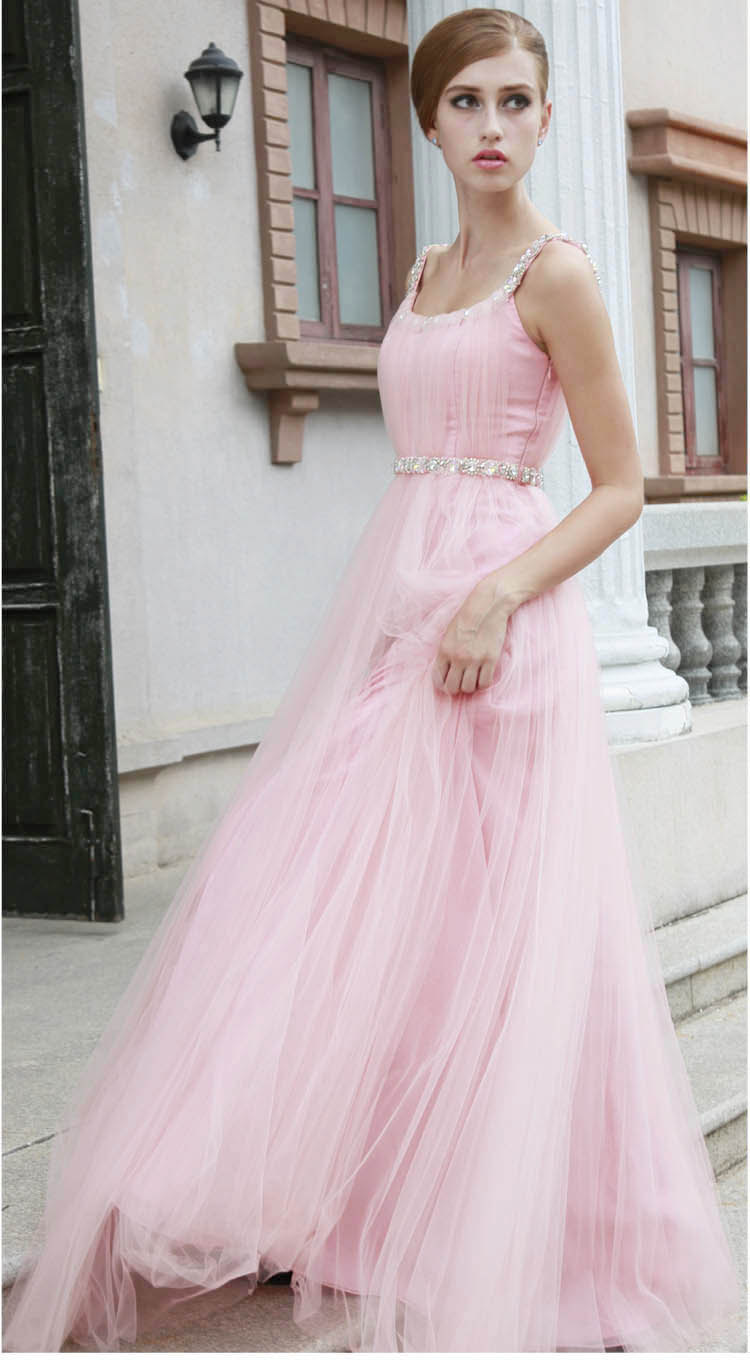 Unique wedding dresses non white bridal gown light pink for Pink wedding dresses pictures