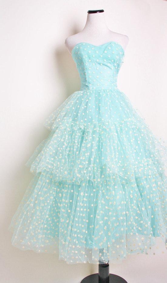 Unique Wedding Dresses Non White Bridal Gown Aqua Tea Length