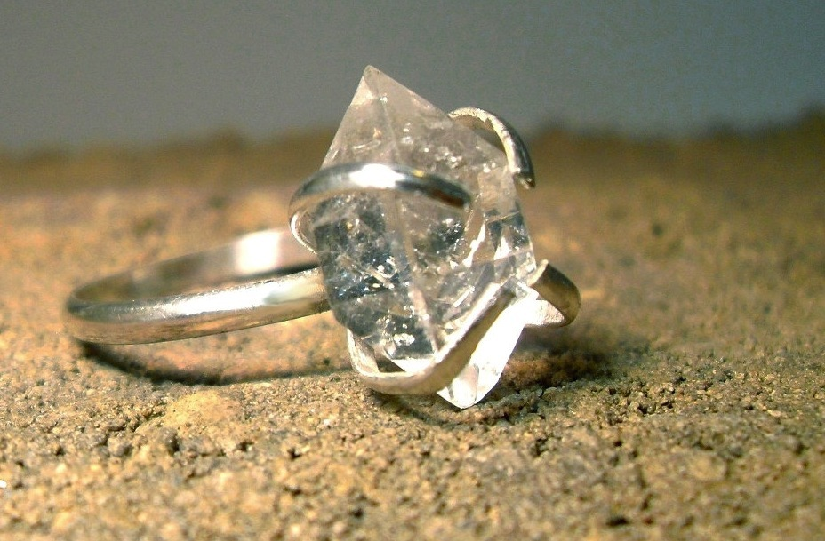 Unique-diamond-engagement-rings-wedding-jewelry-with-rough-herkimer-stones-6.full