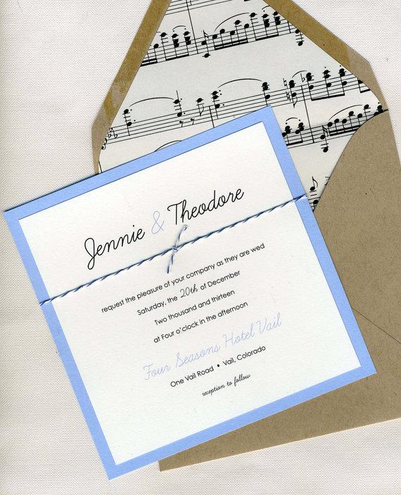 music themed wedding accessories ceremony reception decor unique, Wedding invitations
