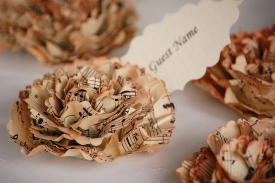 music themed wedding accessories ceremony reception decor escort cards