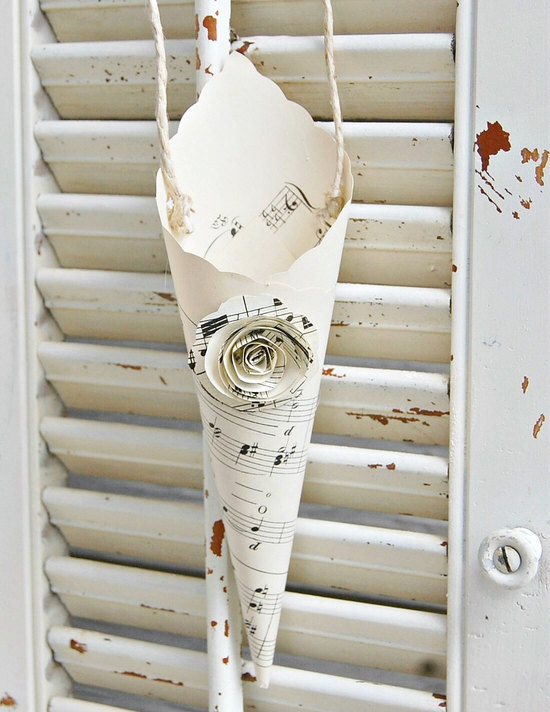 music themed wedding accessories ceremony reception decor paper cones