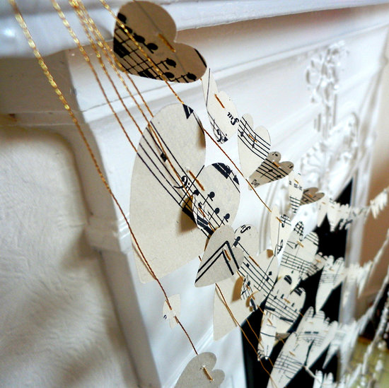 music themed wedding accessories ceremony reception decor garland