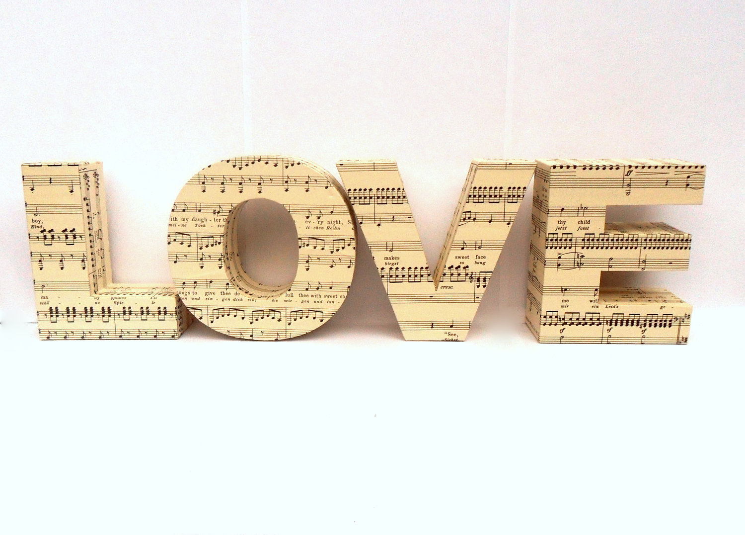 Music Themed Wedding Accessories Ceremony Reception Decor Love Sign