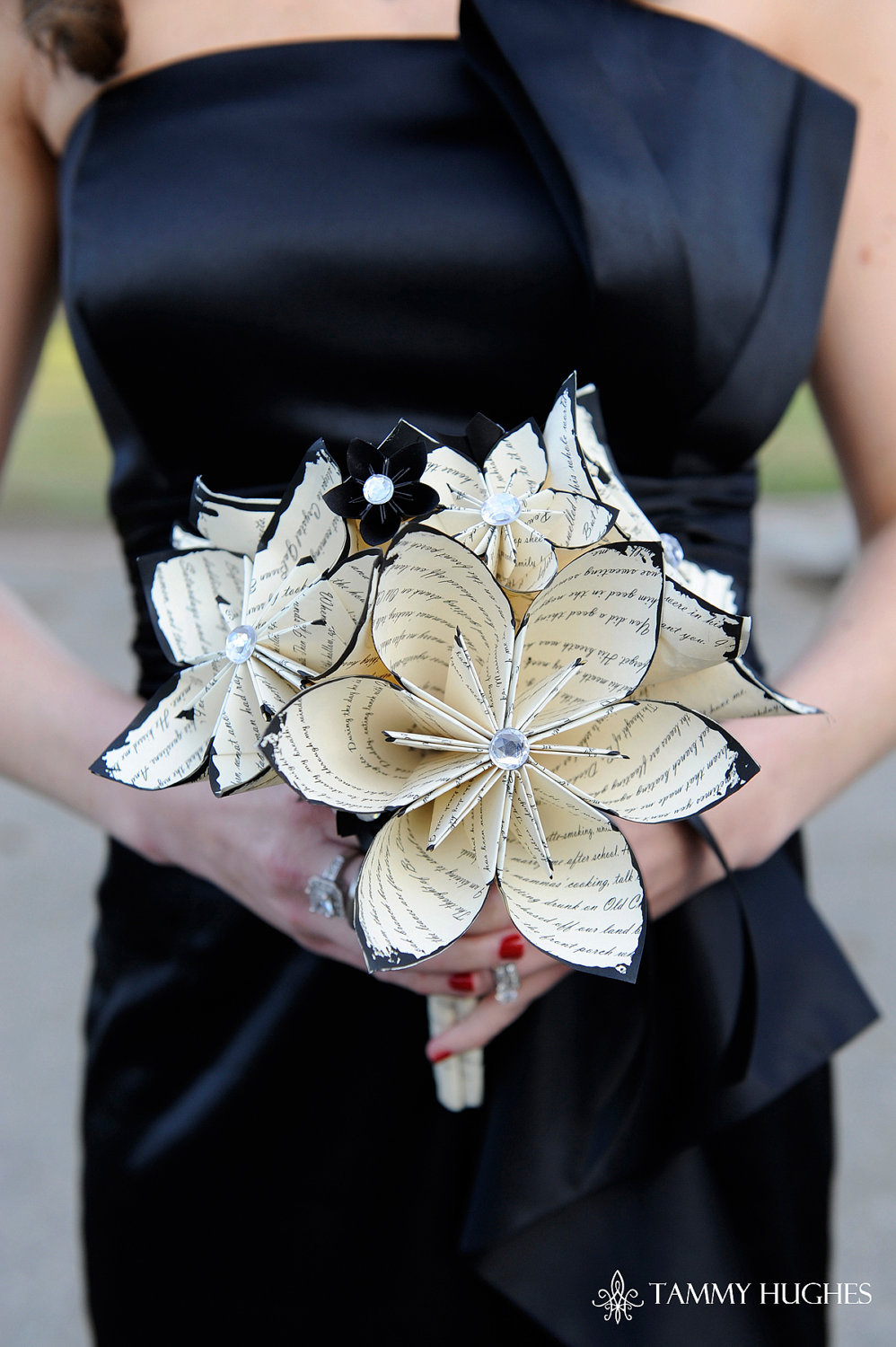 Music themed wedding accessories ceremony reception decor paper flower centerpiece.