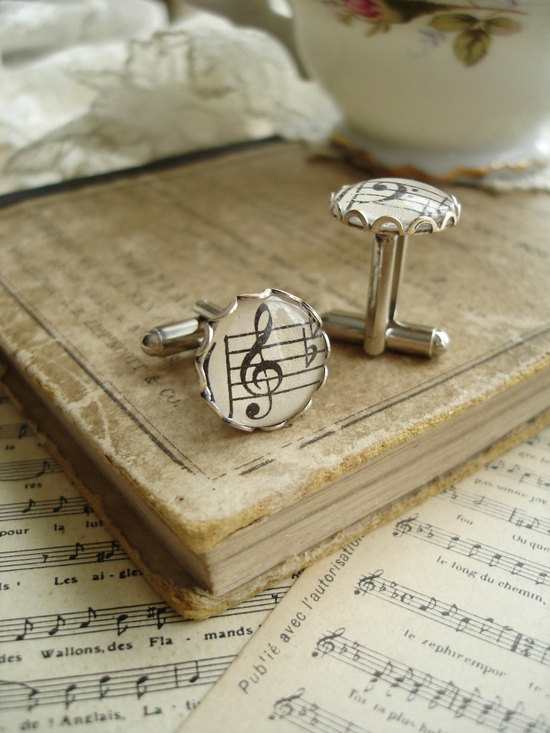 music themed wedding accessories cufflinks