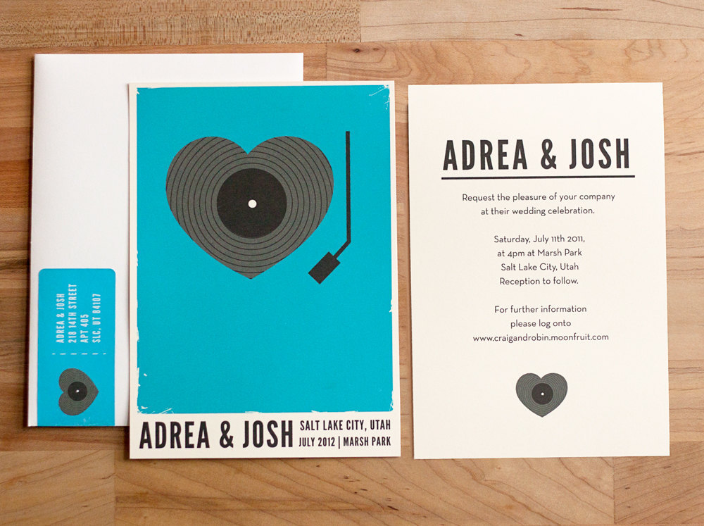 Music themed wedding accessories ceremony reception decor retro invites.