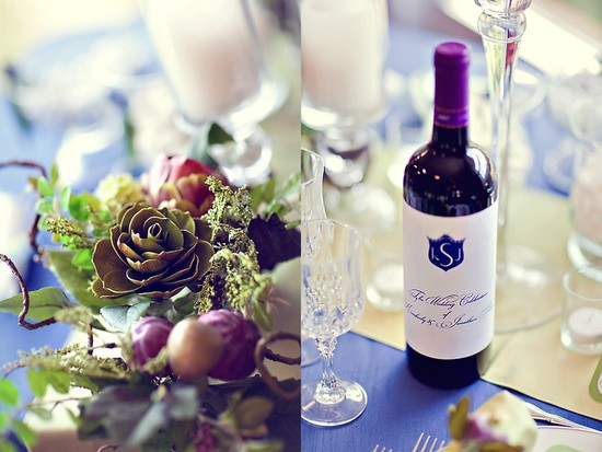 personalized wedding ideas custom wine labels for the reception elegant navy ivory