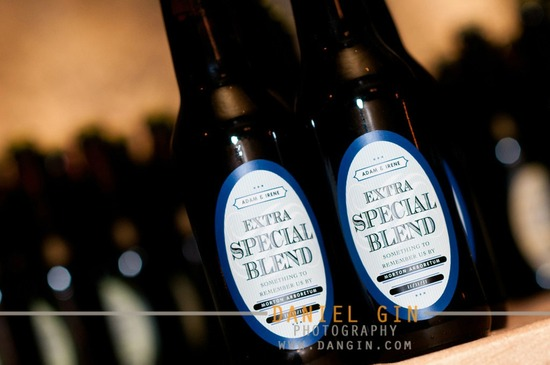 personalized wedding ideas custom wine labels for the reception blue beer labels