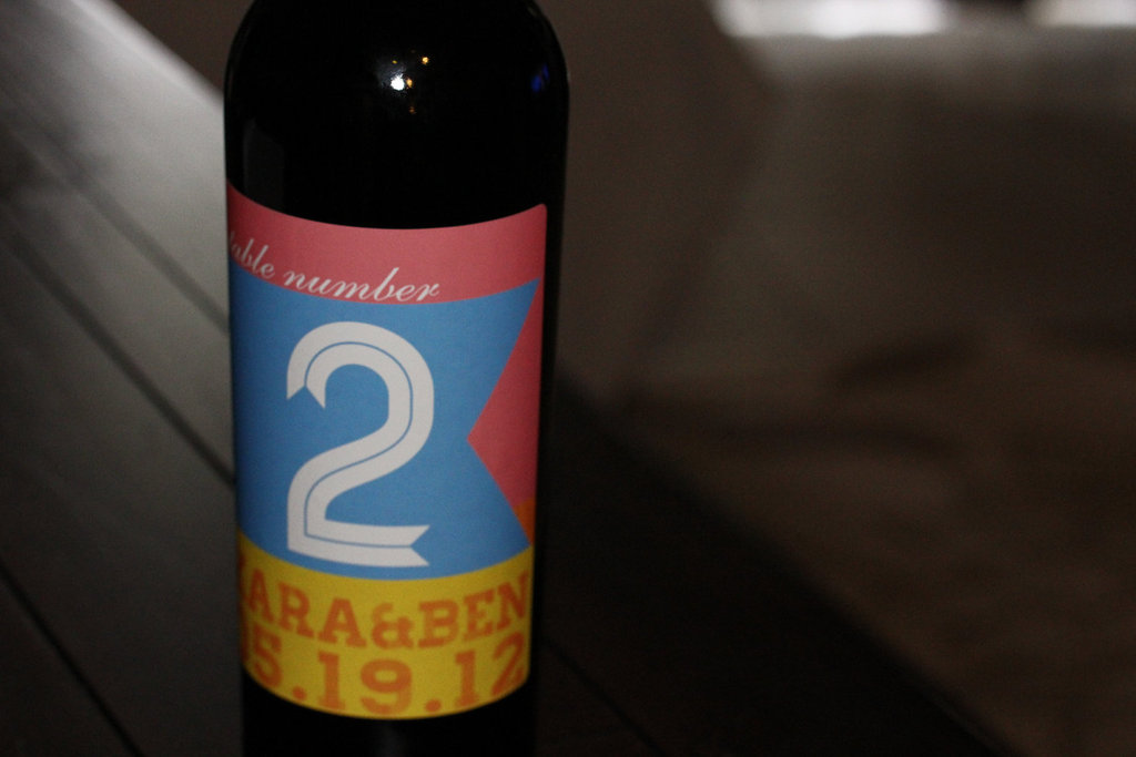 personalized wedding ideas custom wine labels for the reception table number