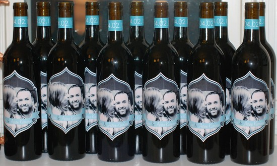 personalized wedding ideas custom wine labels for the reception photo with date