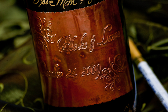 personalized wedding ideas custom wine labels for the reception embossed
