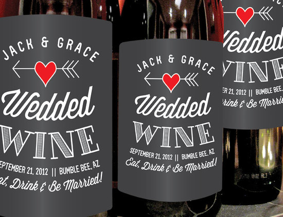 personalized wedding ideas custom wine labels for the reception wedded wine
