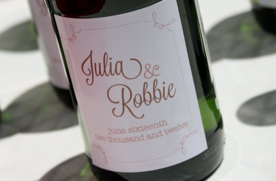 personalized wedding ideas custom wine labels for the reception 3