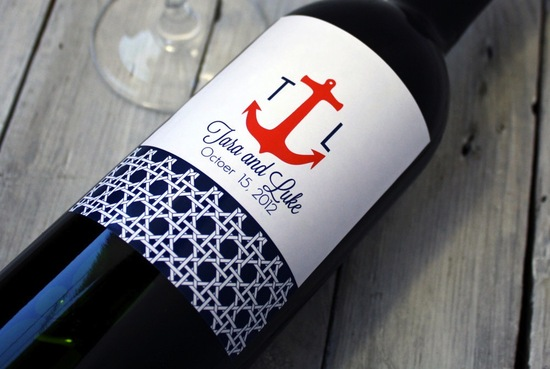 personalized wedding ideas custom wine labels for the reception printable nautical