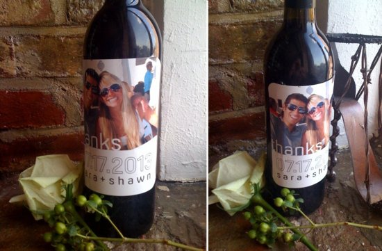 personalized wedding ideas custom wine labels for the reception 1