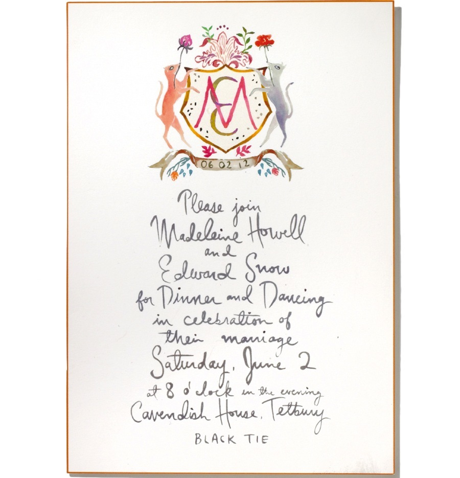 photo of Custom Heraldry to Personalize Your Wedding