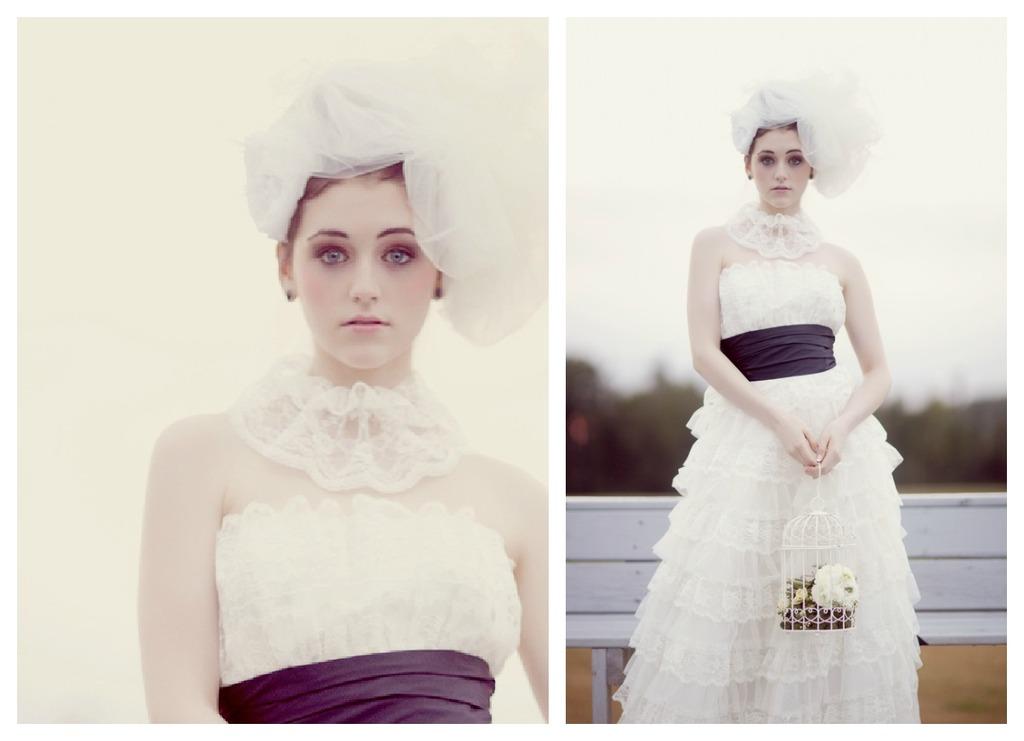 vintage lace wedding dress haute couture bride 1